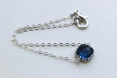 Dainty Sapphire Bracelet