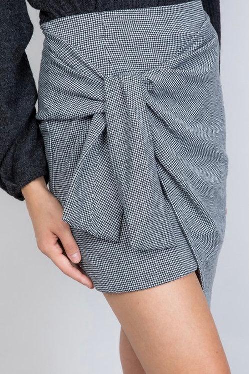 Checkered Tie Skirt