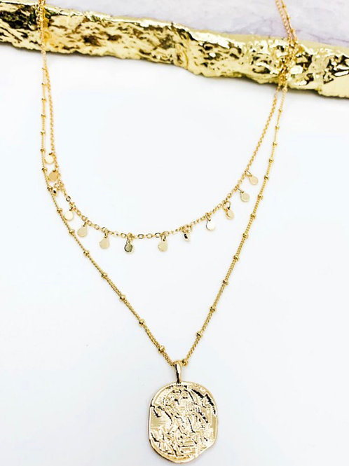 Gold Coined Necklace