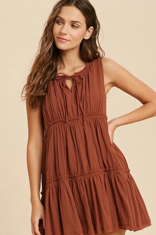 Burl Wood Tier Dress