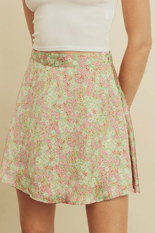 Flower Glow Mini Skirt