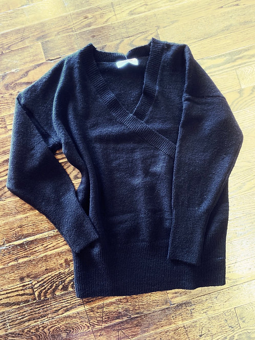 Black Wrapped Sweater