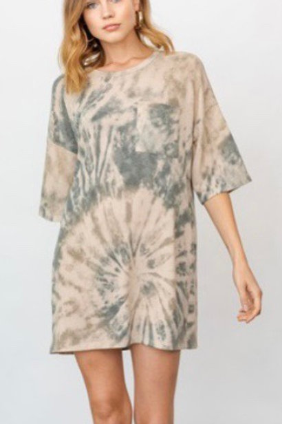 Tie-Dye Tee Dress