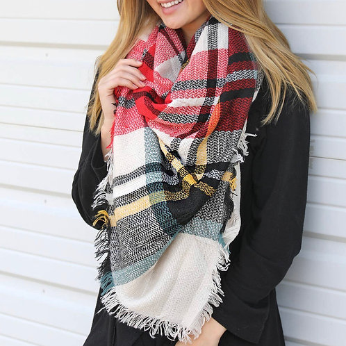 Spiced Berry Blanket Scarf