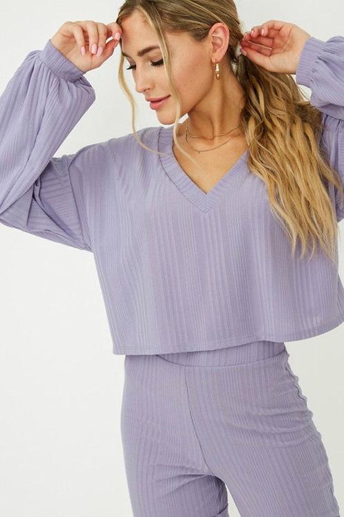 Lavender Sweater Crop