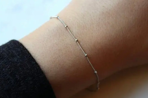 Silver Dew Drop Bracelet