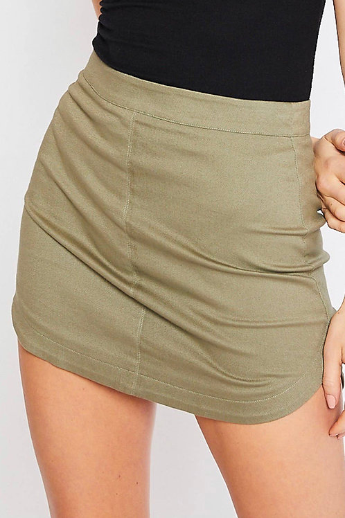 Twill Mini Skirt