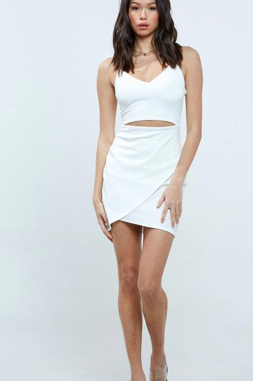 Ivory Slashed Dress
