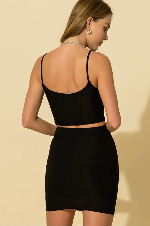 Black Cami Crop (pairs with black mini skirt)