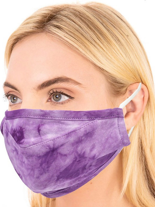 Purple Tie Dye Mask