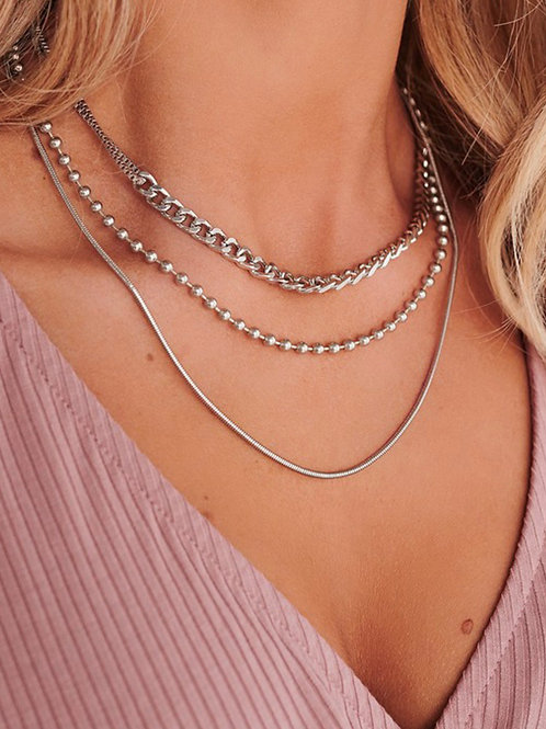 Silver Dotted Necklace