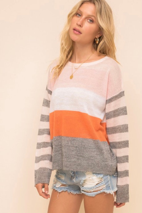 Spring Striped Sweater