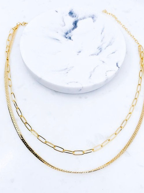Gold Brass Chain Necklace