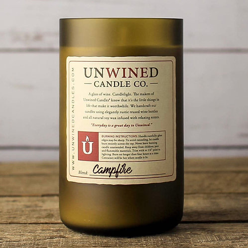 Campfire Wine Bottle Candle
