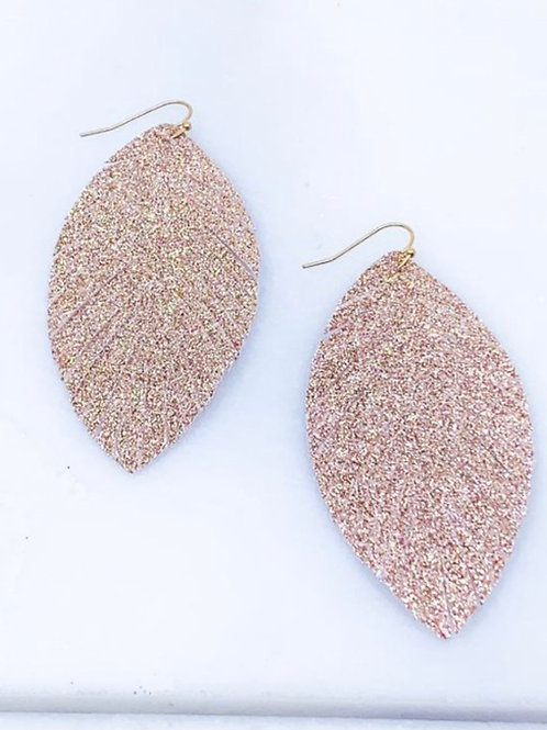 Glitter Fringed Feather Earrings