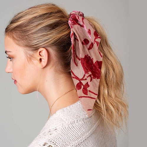 Floral Burnout Scrunchie Scarf