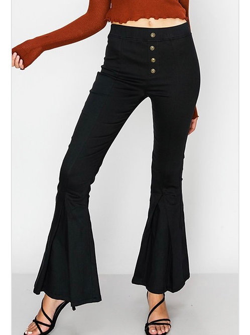 Black Button Flares