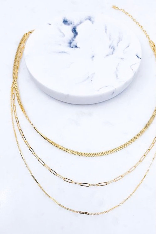 Gold Layered Up Necklace