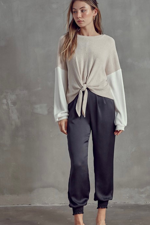 Oatmeal Tied Top