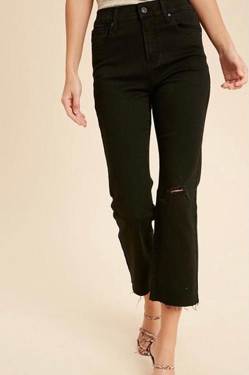 Black Hem Jeans