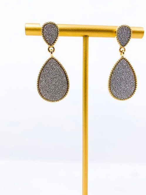 Glitter Teardrop Earrings