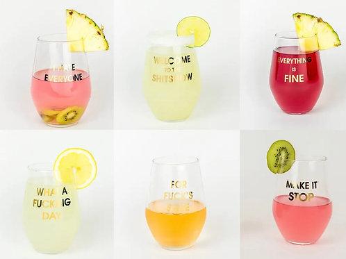 2020 Mood Wine Glass