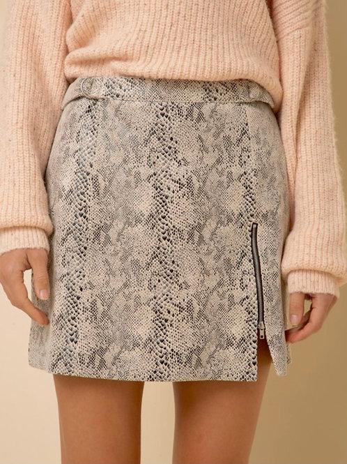 Snakeskin Slit Skirt