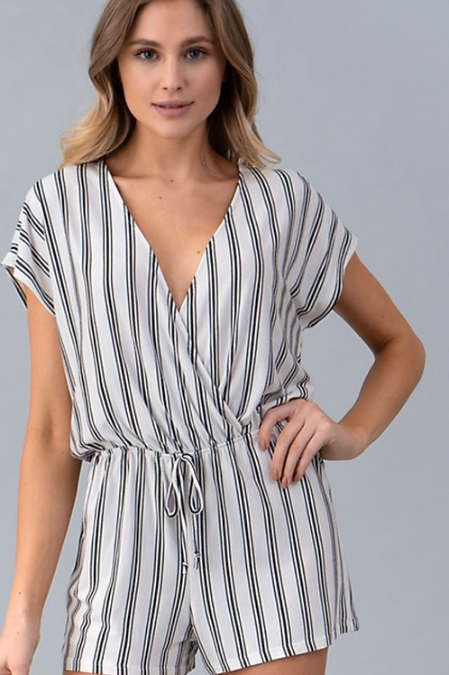 Striped Up Romper