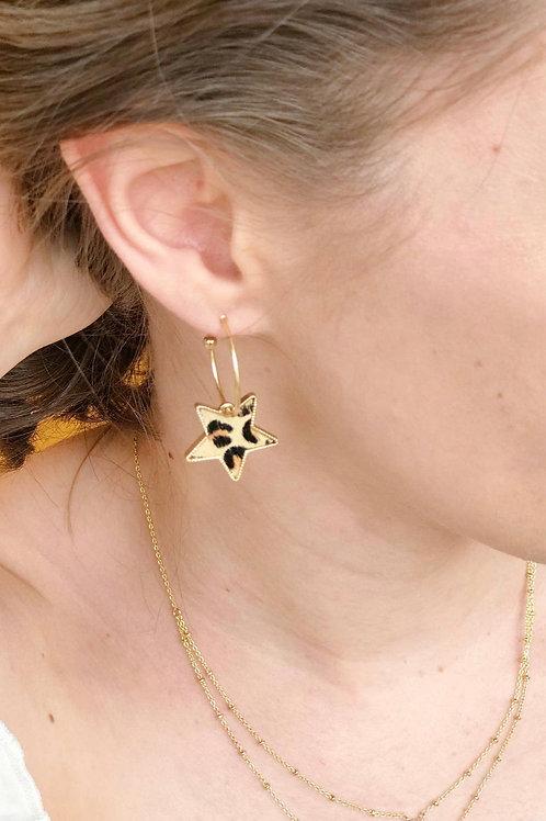 Leopard Star Earrings