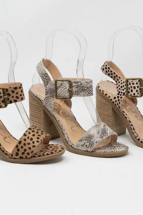 Snakeskin Heel