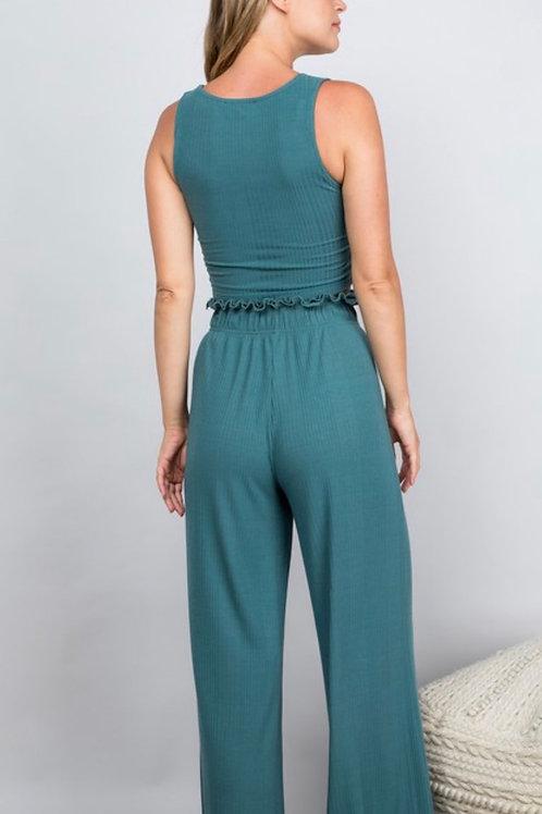 Emerald Stretch Pants