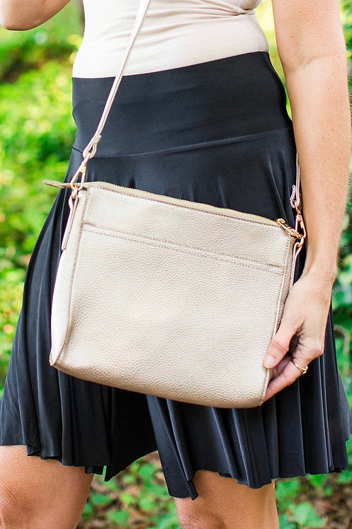 Emma Gold Crossbody Bag