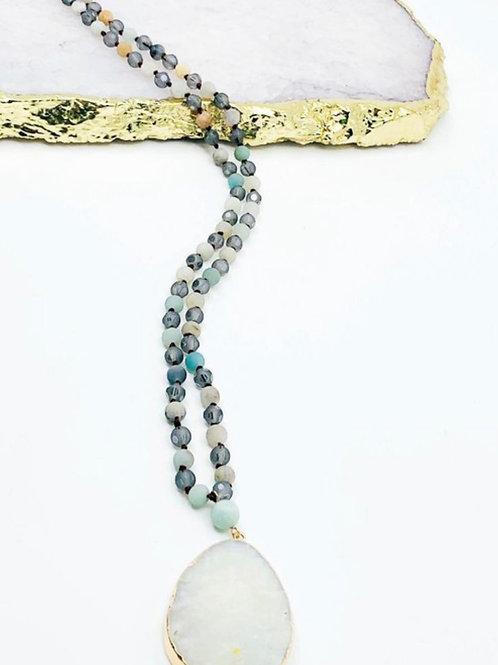 Mint Glass Necklace
