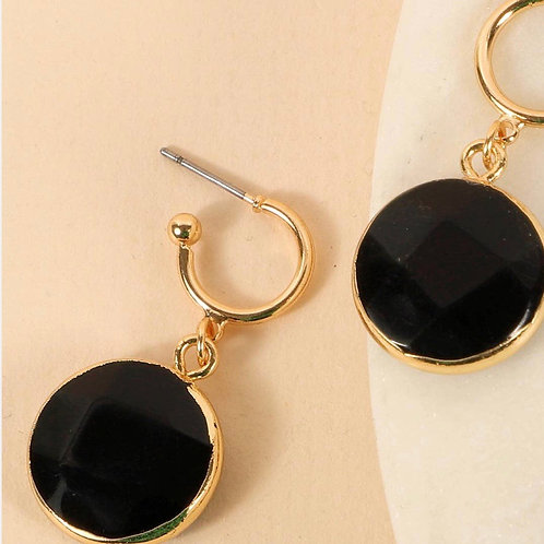 Round Natural Stones Earrings