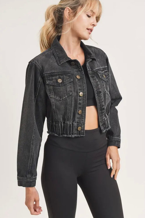 Charcoal Cropped Jacket