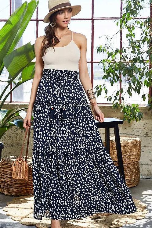 Tiered Leopard Skirt