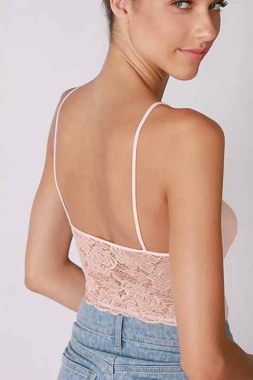 Pink Sand Lace Crop