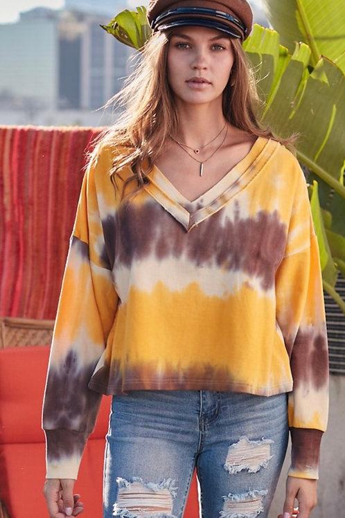 Mustard Tie Dye Sweatshirt