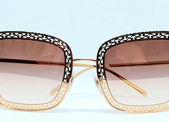 Dolce & Gabbana DG2225 Sunglasses Gold/Pink