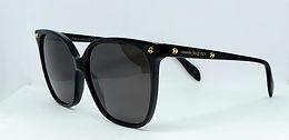 Alexander McQueen AM0188S Sunglasses Black/Smoke