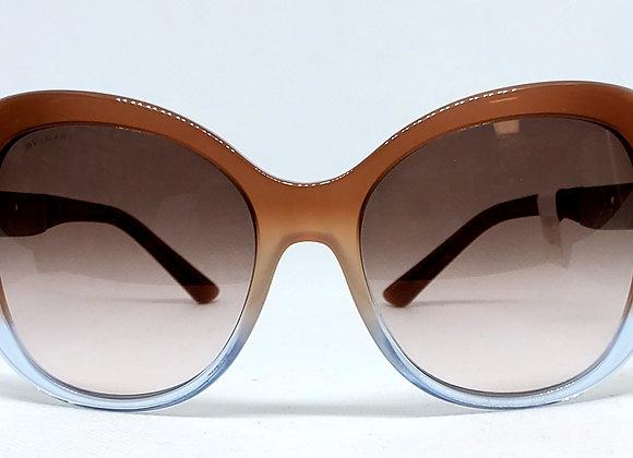 Bulgari 8199B Sunglasses Brown/Silver