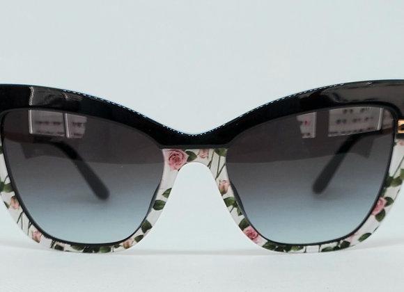 Dolce & Gabbana DG4374-F 3250/8G Sunglasses Black/Roses