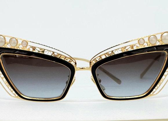 Dolce & Gabbana DG2254-H 1334-8G Sunglasses Gold/Black