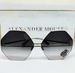 Alexander McQueen 028S Sunglasses Grey Limited Edition