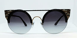 Bulgari 6088 Sunglasses Black/Gold/Brown Deco