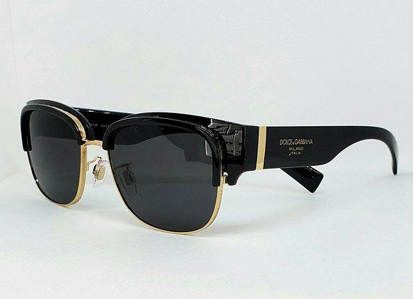 Dolce & Gabbana DG6137 501-87 Sunglasses Black/Gold