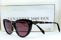 Alexander McQueen 0189S Sunglasses Brown/Lilac