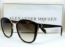 Alexander McQueen 0186S Sunglasses Brown