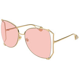 Gucci 0252S-004 Gold/Pink