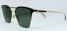 Alexander McQueen AM0213SA Sunglasses Gold/Smoke